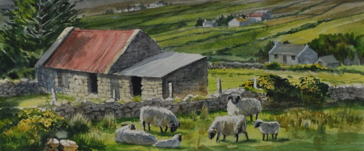 Belderg Valley: Mayo, Ireland - Watercolours - Original Artwork - Acrylics, Oils & Watercolours