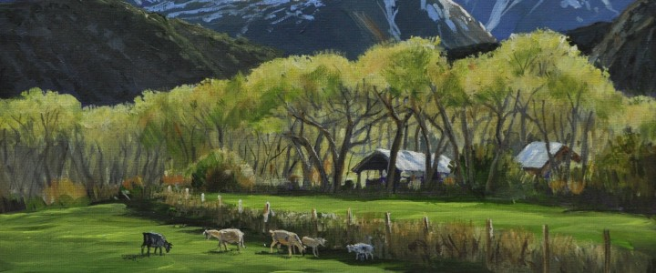 Pack Creek Ranch, La Sal Mountains: Utah - Acrylics & Oils - Original Artwork - Acrylics, Oils & Watercolours