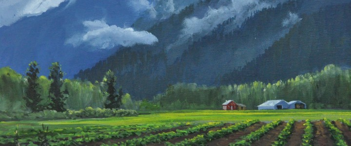 Pemberton Meadows - Acrylics & Oils - Original Artwork - Acrylics, Oils & Watercolours