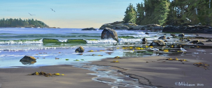 Florencia Bay: The Boulder Garden - Acrylics & Oils - Original Artwork - Acrylics, Oils & Watercolours