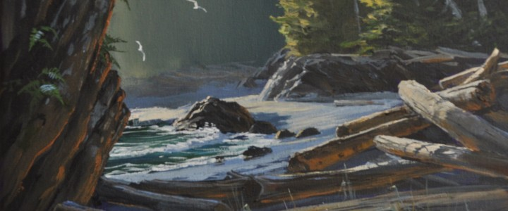 Late Afternoon At Ucluth Bay - Acrylics & Oils - Original Artwork - Acrylics, Oils & Watercolours