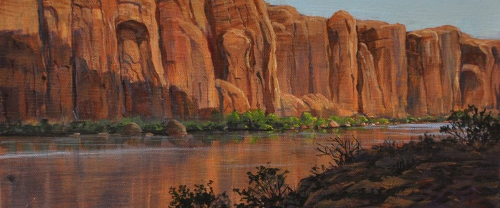 Colorado River At Dawn - Acrylics & Oils - Original Artwork - Acrylics, Oils & Watercolours