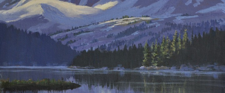 Nuktessli Lake: Tweedsmuir Park - Acrylics & Oils - Original Artwork - Acrylics, Oils & Watercolours