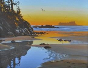 Tonquin Island Sunset From Middle Beach