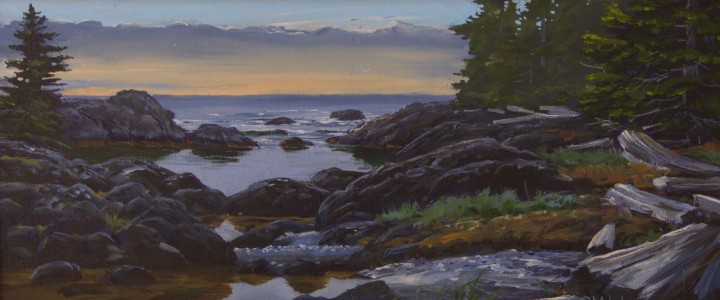 Blunden Island: Hidden Cove - Acrylics & Oils - Original Artwork - Acrylics, Oils & Watercolours