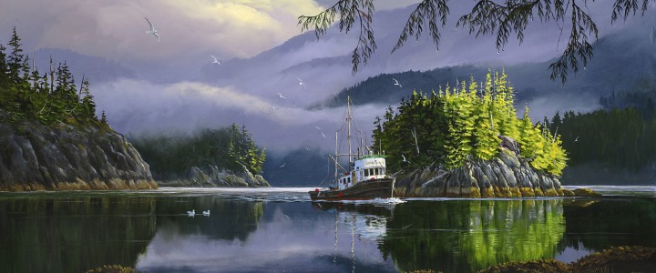Lemmens Inlet Morning - Prints & Art Cards - Artwork Reproductions - Giclees, Paper Prints, Prints and Gift Store