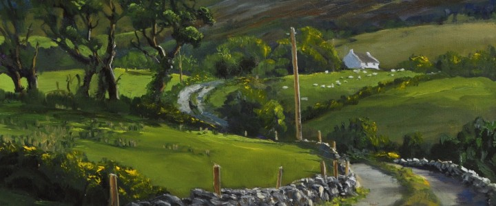 Below The Wicklow Mountains: Ireland - Acrylics & Oils - Original Artwork - Acrylics, Oils & Watercolours