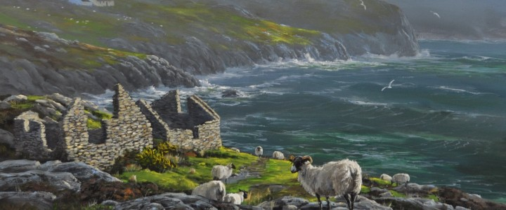 Break In The Clouds Crohy Head: Donegal, Ireland - Acrylics & Oils - Original Artwork - Acrylics, Oils & Watercolours