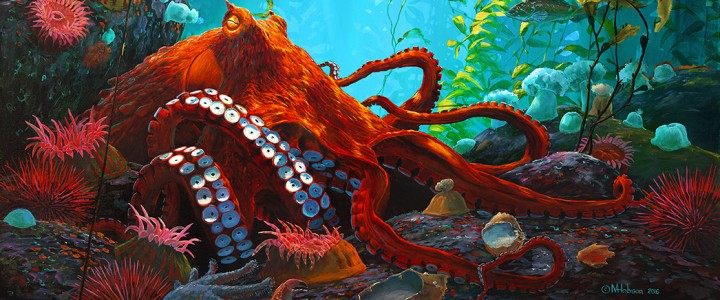 Octopus: Into The Open - Giclees - Artwork Reproductions - Giclees, Paper Prints, Prints and Gift Store