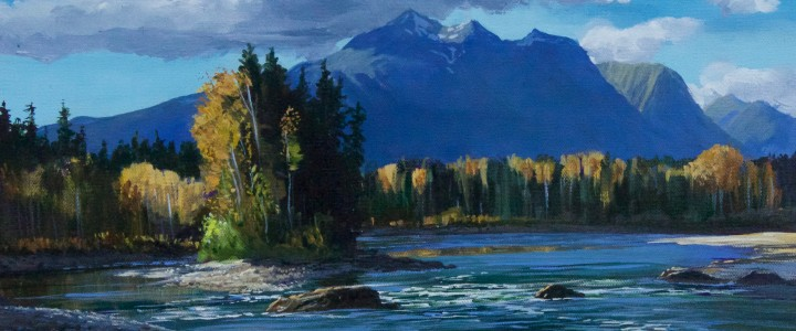 Hudson Bay Mountain From Telkwa - Acrylics & Oils - Original Artwork - Acrylics, Oils & Watercolours