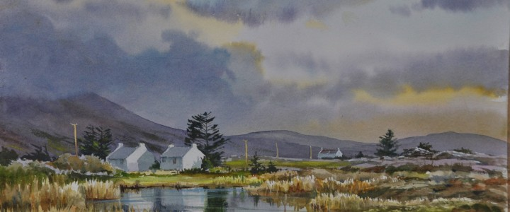 Evening Reflections: County Mayo, Ireland - All Originals Available - Original Artwork - Acrylics, Oils & Watercolours