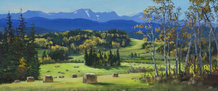 Telkwa Range From Woodmere Road - Acrylics & Oils - Original Artwork - Acrylics, Oils & Watercolours