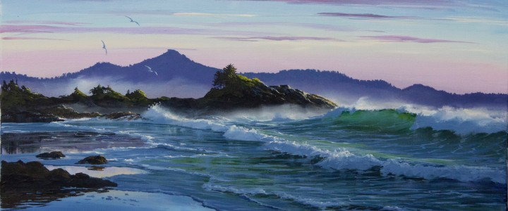 Rosie Bay: The Perfect Wave - Acrylics & Oils - Original Artwork - Acrylics, Oils & Watercolours