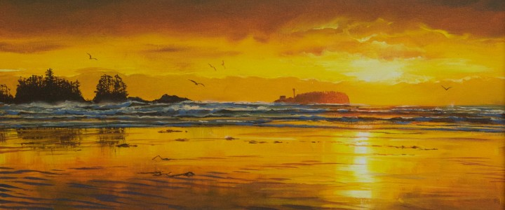 Chesterman Beach: Golden Sands - Acrylics & Oils - Original Artwork - Acrylics, Oils & Watercolours