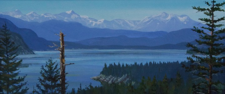 Columbia Lake, East Kootenays - Acrylics & Oils - Original Artwork - Acrylics, Oils & Watercolours