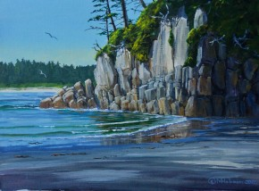 Calvert Island: The Granite Wall, Third Beach