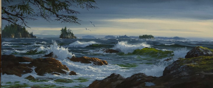 Ucluelet: George Fraser Islands - Acrylics & Oils - Original Artwork - Acrylics, Oils & Watercolours
