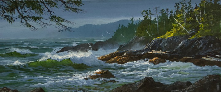 Wild Pacific Trail, Ucluelet: Building Storm - Acrylics & Oils - Original Artwork - Acrylics, Oils & Watercolours
