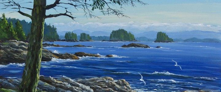 Barkley Sound: View From Amphitrite Point - All Originals Available - Original Artwork - Acrylics, Oils & Watercolours