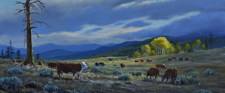 Cattle Country - Acrylics & Oils - Original Artwork - Acrylics, Oils & Watercolours