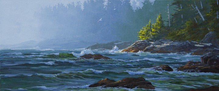 Ucluelet Peninsula: Incoming Squall - Acrylics & Oils - Original Artwork - Acrylics, Oils & Watercolours