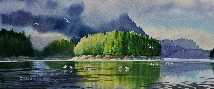 Mt. Colnett: Rising Mists - All Originals Available - Original Artwork - Acrylics, Oils & Watercolours