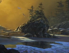 Second Tonquin Beach At Dawn