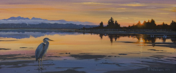 Englishman River Estuary - Acrylics & Oils - Original Artwork - Acrylics, Oils & Watercolours