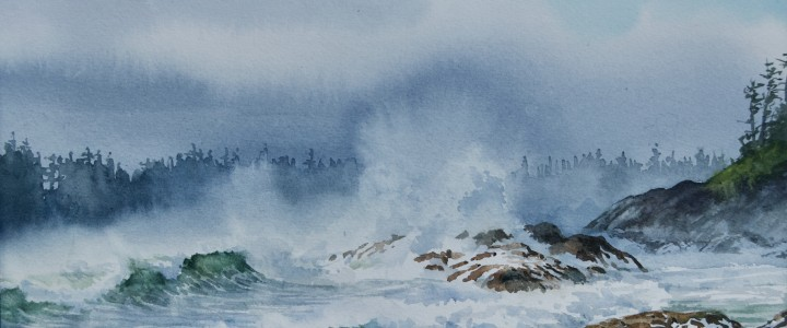 Rosie Bay: January Storm - All Originals Available - Original Artwork - Acrylics, Oils & Watercolours