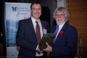 Mark Hobson Receives Artists for Conservation's Highest Honour