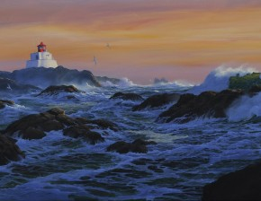 Amphitrite Lighthouse: January Sunset