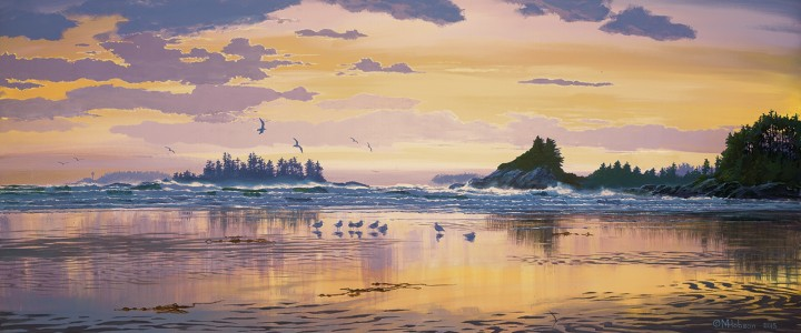 Cox Bay: Under Pink Skies - Giclees - Artwork Reproductions - Giclees, Paper Prints, Prints and Gift Store