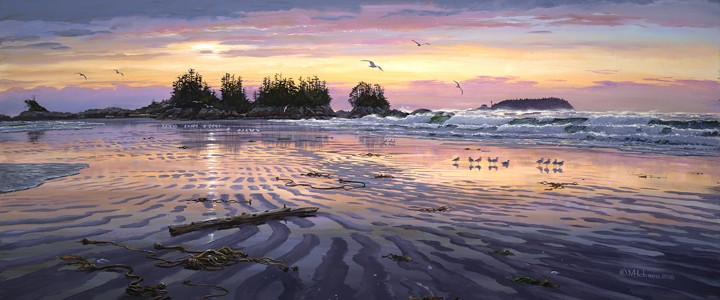 Chesterman Beach: Frank Island Sand Pattern - Giclees - Artwork Reproductions - Giclees, Paper Prints, Prints and Gift Store