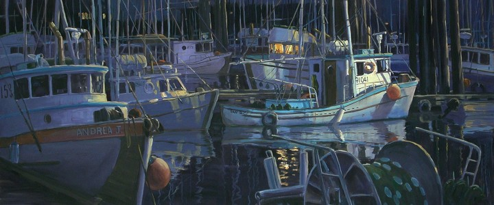 Fourth Street Dock at Night - Giclees - Artwork Reproductions - Giclees, Paper Prints, Prints and Gift Store