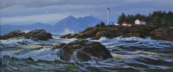 Lennard Lighthouse - Acrylics & Oils - Original Artwork - Acrylics, Oils & Watercolours