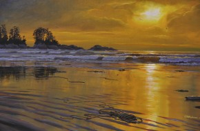 WORKSHOP - TOFINO: Acrylics - Sunset Reflections on Wet Sand