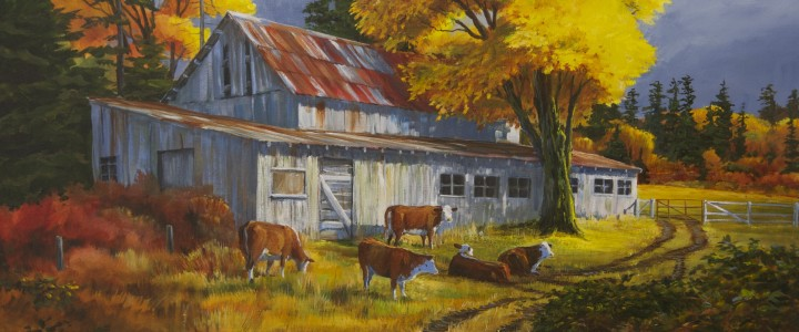 Nanoose Barn - Acrylics & Oils - Original Artwork - Acrylics, Oils & Watercolours
