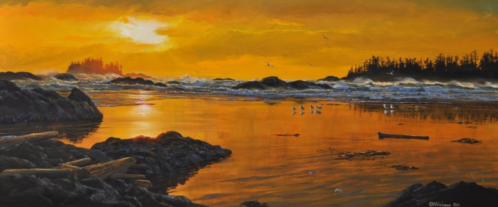 Portland Point at Sunset - Acrylics & Oils - Original Artwork - Acrylics, Oils & Watercolours