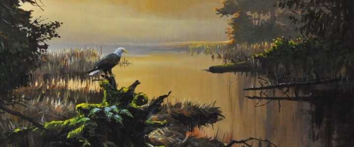 Eagles at Hammond Marsh - Acrylics & Oils - Original Artwork - Acrylics, Oils & Watercolours