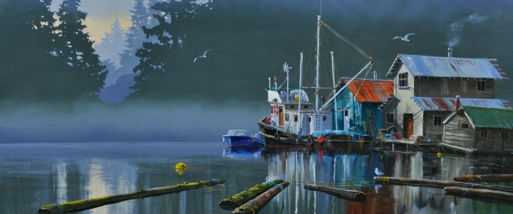 Floating Neighbours - Giclees - Artwork Reproductions - Giclees, Paper Prints, Prints and Gift Store