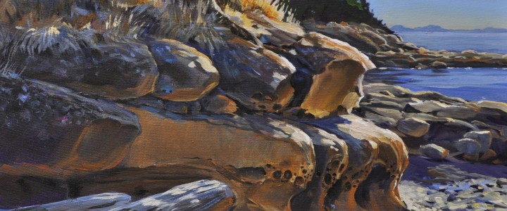 Gabriola: Degnen Bay - Acrylics & Oils - Original Artwork - Acrylics, Oils & Watercolours