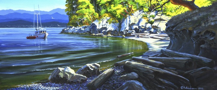 Gabriola Morning - Acrylics & Oils - Original Artwork - Acrylics, Oils & Watercolours