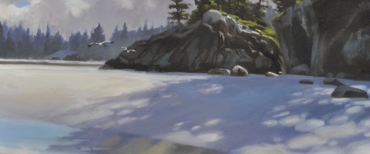 Calvert Island Morning - Other Artists - Original Artwork - Acrylics, Oils & Watercolours