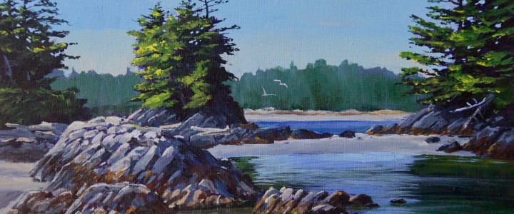 Goose Islet Morning - Acrylics & Oils - Original Artwork - Acrylics, Oils & Watercolours
