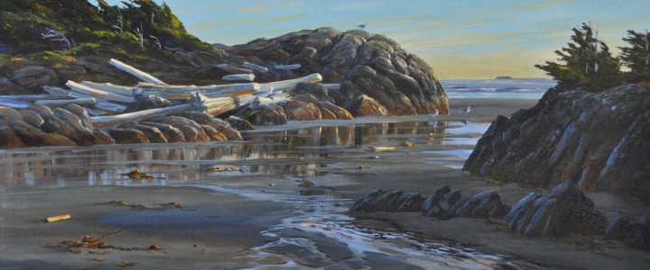 Green Point Rocks: July Afternoon - Acrylics & Oils - Original Artwork - Acrylics, Oils & Watercolours