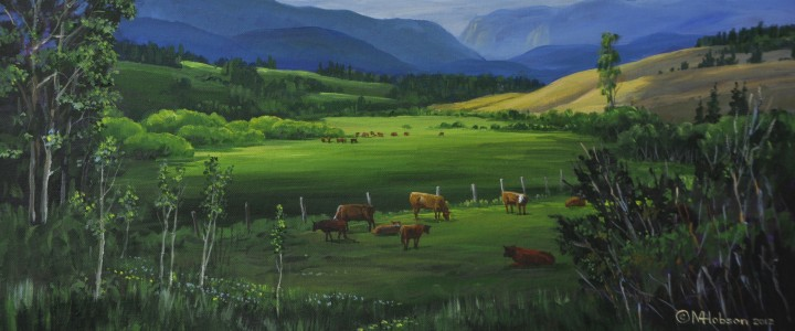 Hat Creek Valley: 88 Ranch - Acrylics & Oils - Original Artwork - Acrylics, Oils & Watercolours