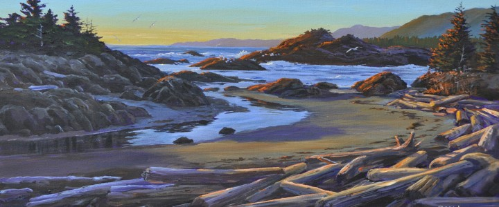 Lismer Bay: Late Afternoon - Acrylics & Oils - Original Artwork - Acrylics, Oils & Watercolours