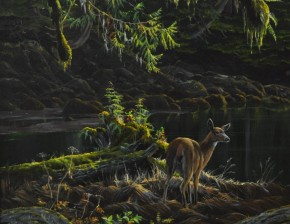 Blacktail Deer In The Estuary (Consignment)