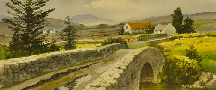 Bridge Near Glenties: Donegal, Ireland - Watercolours - Original Artwork - Acrylics, Oils & Watercolours