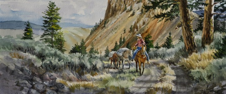 Road To Churn Creek - Watercolours - Original Artwork - Acrylics, Oils & Watercolours